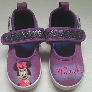 NWT Girls Mary Janes w/ Hand painted Minnie Mouse